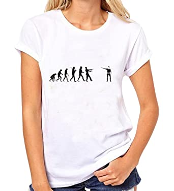 6308cb35bf7ce OULIU-Women Funny Printed Summer Slim Fit tees t Shirts White 2XL ...