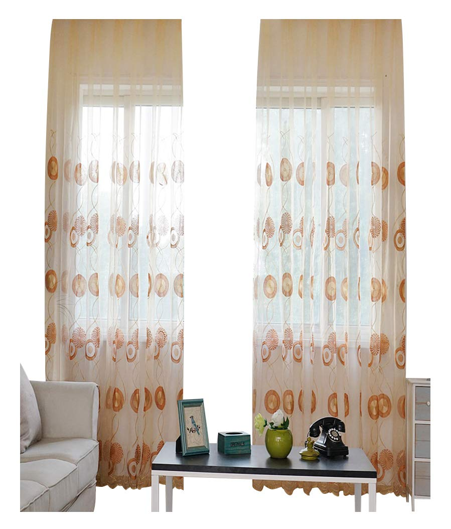 Aside B07CXKFP39 Bside韓国スタイル円パターン刺繍シアーカーテンドレープロッドポケットのホームデコレーション、リビングルームダイニングルームと子供部屋(1パネル、W Inch, 52 1 x L 84インチ,コーヒー) 52W x 63L Inch, 1 Panel ブラウン 52W x 63L Inch, 1 Panel コーヒー B07CXKFP39, ベイクハウスPaPaShu:1314a1f7 --- ijpba.info