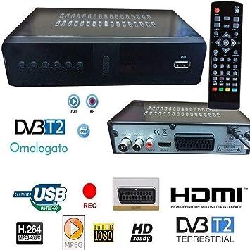 tradeshoptraesio – Decodificador receptor digital terrestre DVB-T TV SCART HDMI Antena 1080P Reg PVR: Amazon.es: Electrónica