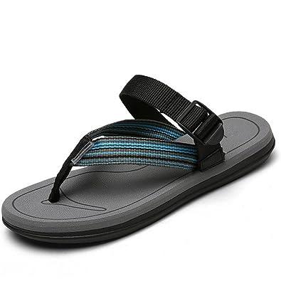 weiwei Casual Flache Sandalen im Sommer,Strand-Römischen Stil-Hausschuhe-B Fußlänge=26.3CM(10.4Inch)