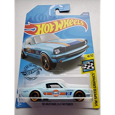 Hot Wheels 2020 Hw Speed Graphics '65 Mustang 2+2 Fastback, Blue 116/250: Toys & Games