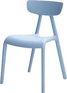 AmazonBasics, Blue, Stackable Kids Chairs, Premium Plastic, 4-Pack