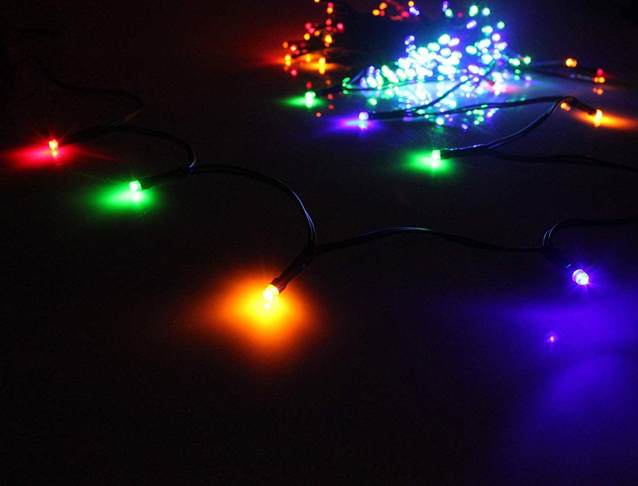 Indoor Outdoor LED Christmas Lights on Dark Green Cable with 8 Light Effects, Low Voltage Fairy String Lights, Ideal for Festival Decoration, Garden, Xmas Tree, Room, Party, Wedding 1000LEDs, Mixed