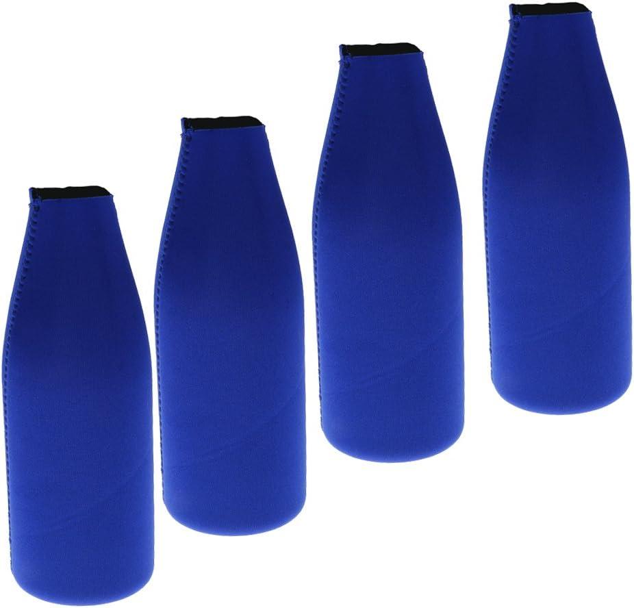 4x Neopren Flaschenkühler Weinkühler Bierflasche Halter für Party Zubehör