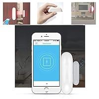 1 Pack/2 Packs Rilevatore di sensori magnetici per porte finestre senza fili comandato dal telefono iPhone Tablet per sistema di allarme antifurto a casa con app facile (1 Pack)
