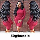 Morichy Peruvian Body Wave 4 Bundles with Lace Frontal Closure 100% Unprocessed Human Hair Extension Bundles with Ear to Ear Lace Frontal (13X4) with Baby Hair Natural Color 50g/pc (18 20 22 24+16) Review