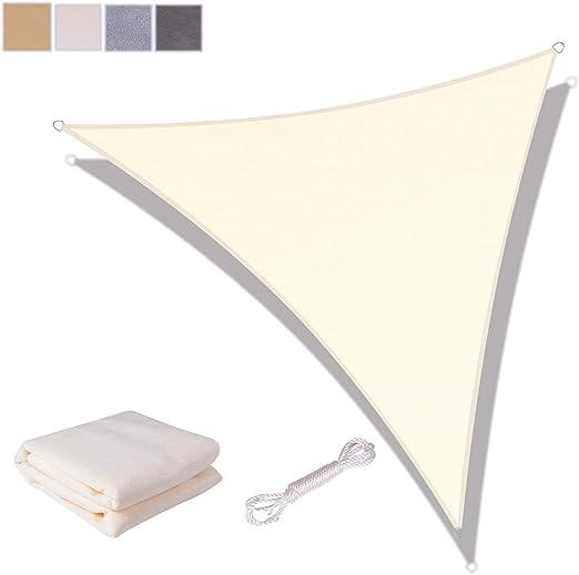 PARASOLE sole protezione UV traspirante HDPE grigi 5x5x5m triangolo vela BALCONE