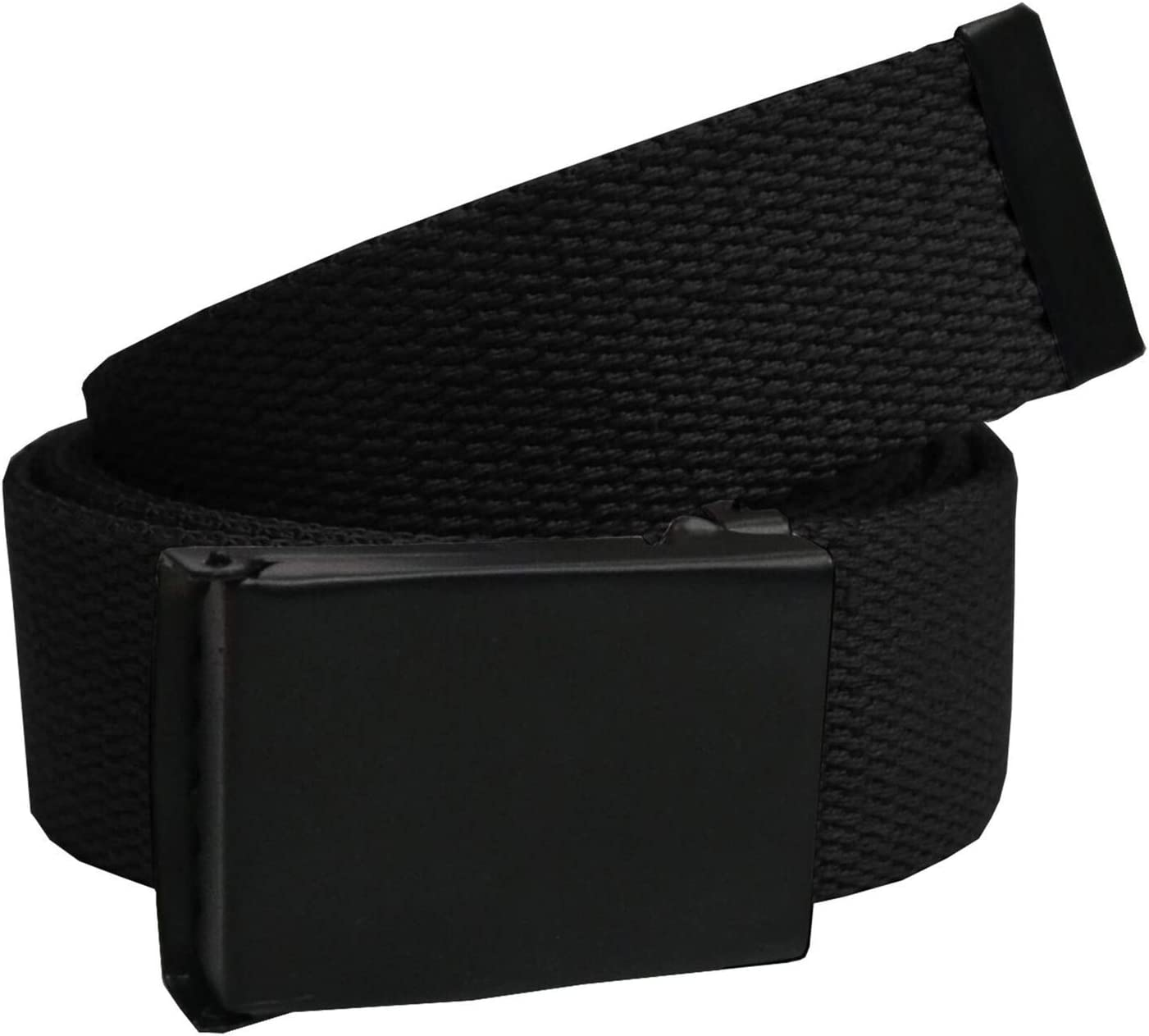 125cm x 3.8cm Trimming Shop Military Style Webbing Belt Webbed Canvas Strap Automatic Metal Clasp Buckle Adjustable Army Waist Band Outdoor Utility Wear Grey