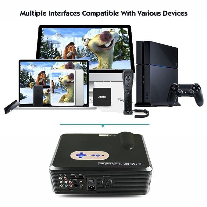 Excelvan CL720D - HD Proyector LED 1080P (3000 Lumenes, 1280 x ...