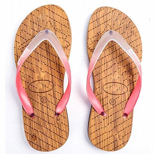 de Sandalias de Simples Personalidad Ocio Casual Verano Sandalias Clip Playa de Antideslizante AN Zapatillas pies A f5qBBwC