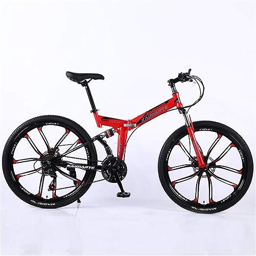 DBG Bicicleta de montaña Plegable de 24 Pulgadas 26 Pulgadas ...