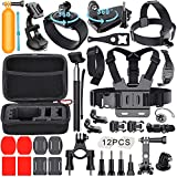 JUSTBUYDEALS Essential Accessories Kit for gopro 40-in-1 GoPro Accessories Bundle Kit GoPro Accessory kit Outdoor Sports Accessories Kit GoPro Camera Accessory kit for GoPro
