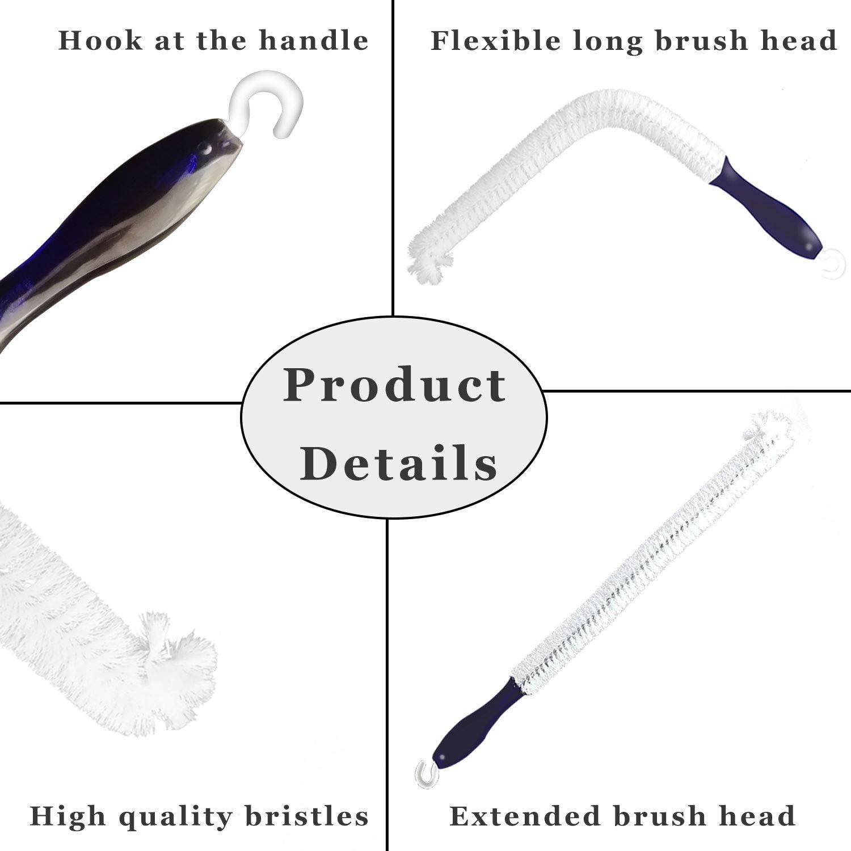 18 Grips Bottle Brush Ceozon Bottle Brush Wine Decanter Brush Flexible Bottle Scourer for Goblets Cups