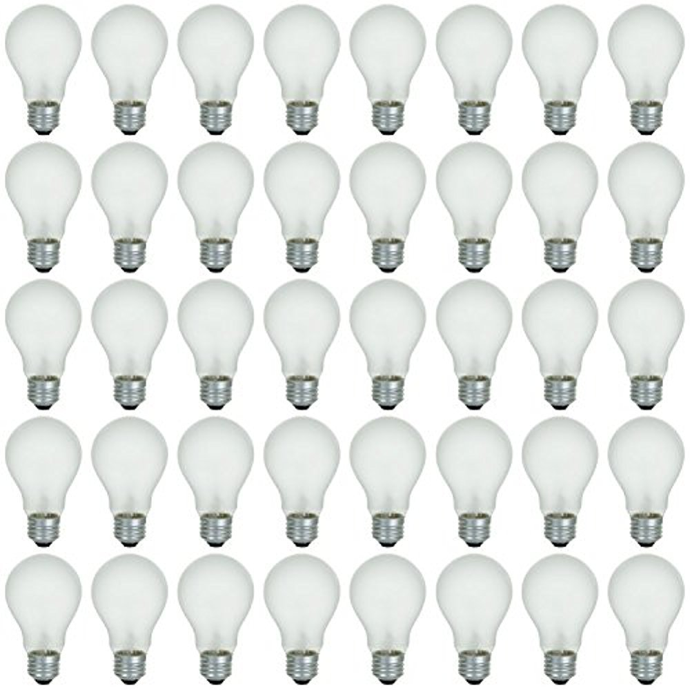 48 Pack of 60 Watt Long Life Incandescent Light Bulb, 130 Volt, Warm White, 3200K, Frost Finish, Medium Base, Rough Service - Vibration Resistant: Classic & Beautiful Natural Light Appearance 100 CRI