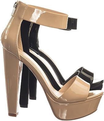 Block Heel Platform Dress Sandal