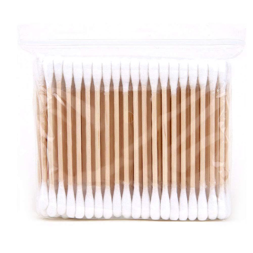 Freedi 100PCS Double-Head Makeup Sanitary Swab Remover Cotton Swab (Wooden)