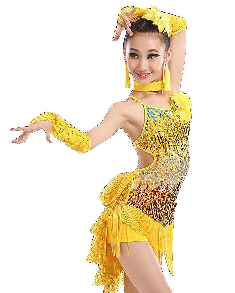 GladiolusA Vestido De Baile Latino para Niñas Traje De Latin ...