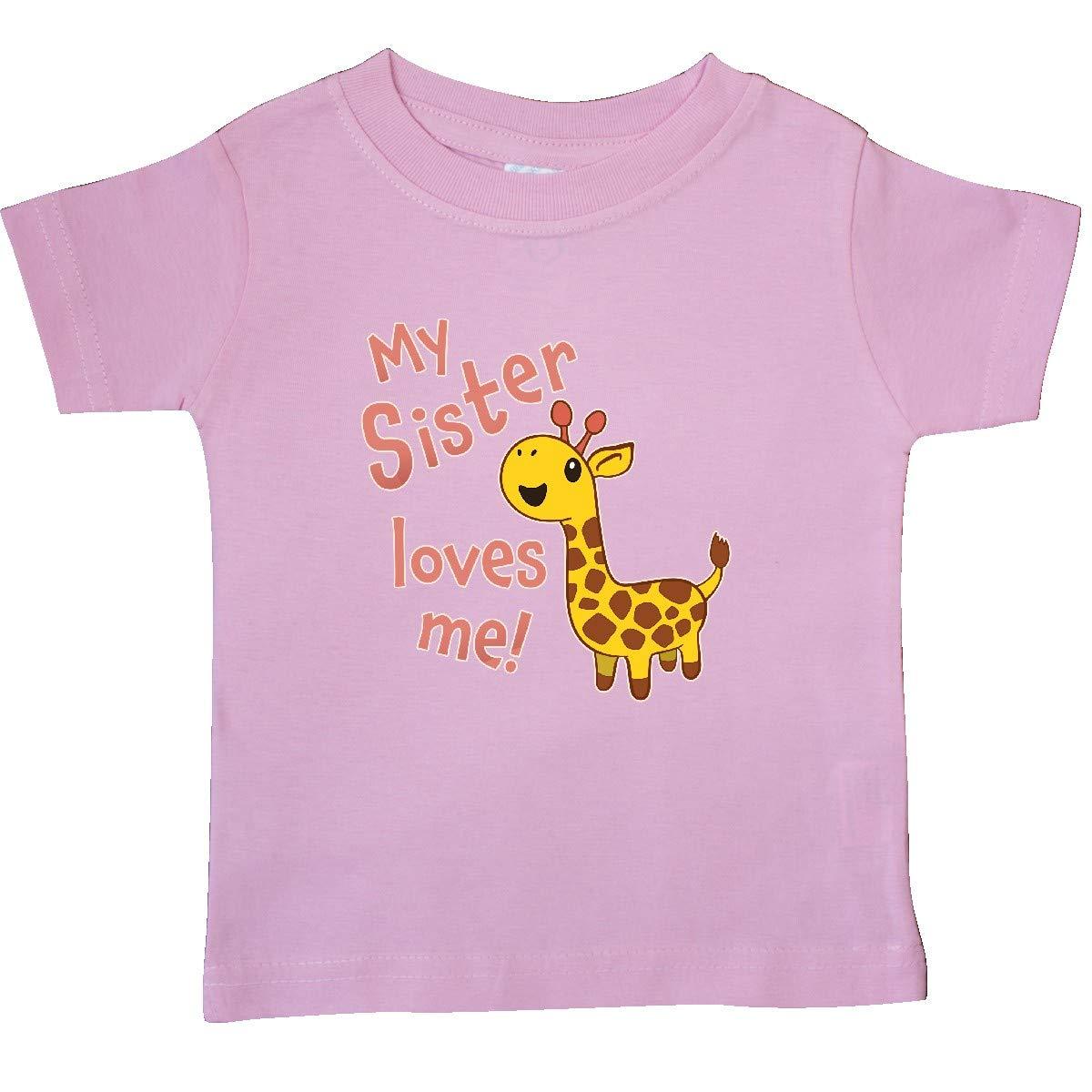 Cute Giraffe Baby T-Shirt inktastic My Sister Loves Me