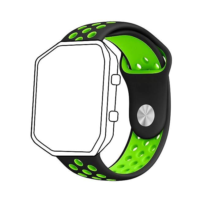 8 opinioni per Cinturino Ontube per Fitbit Blaze, cinturino di ricambio in silicone per