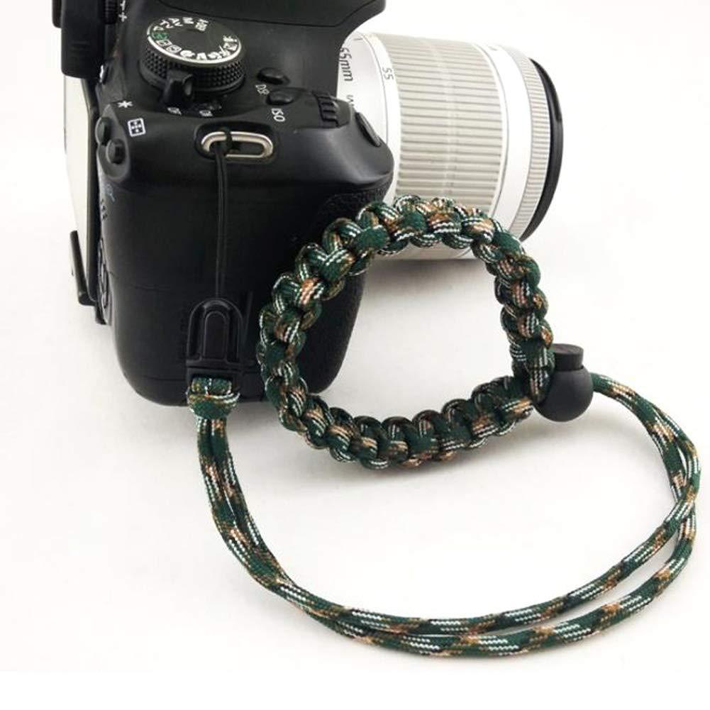 JUNZANQEE 手編み パラコード 調節可能 カメラ用リストストラップ B07M9673DT