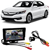 Fabtec 5.0 Inch Full HD Dashboard Screen With LED Night Vision Water proof Car Rear View Reverse Parking Camera With Microfiber Glove For Honda Accord