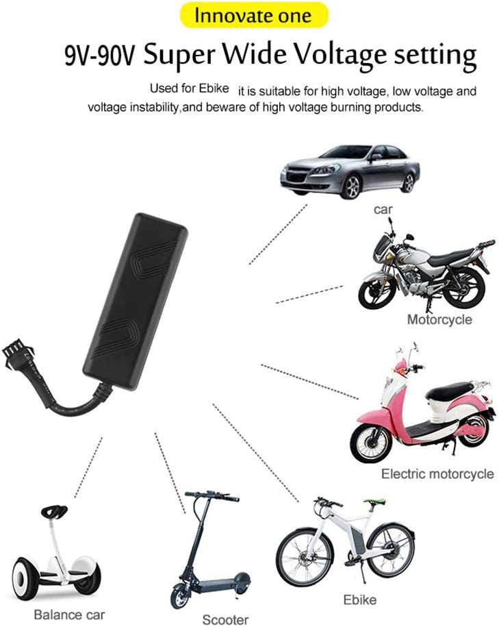Tickas GPS Tracker,TK205 Mini GPS Tracker Anti-theft Real Time Tracking Device for Car Motorcycle E-bike