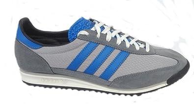 buy popular d22b6 9a19c adidas SL 72 Mens Trainers G96484 Vintage Retro in Grey Blue Sizes UK 6.5
