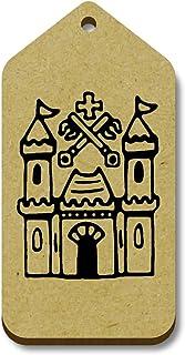 Azeeda 10 x 'Château' etiquettes de Bagage / Cadeau en Bois (TG00068601)
