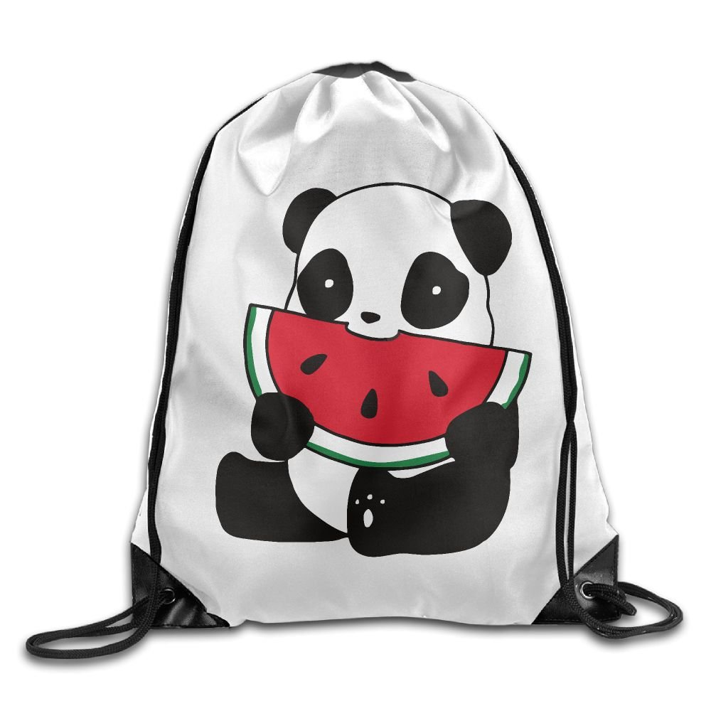 80%OFF Panda With Watermelon Unisex Outdoor Gym Sack Bag Travel Drawstring Backpack  Bag b1e6b3201339e