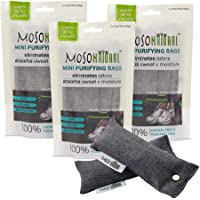 (3-Pack (6 total)) - Mini Moso Natural Air Purifying Bags, Shoe Deodorizer and Odour Eliminator, 6 Pack (Three Packs of Two Bags)