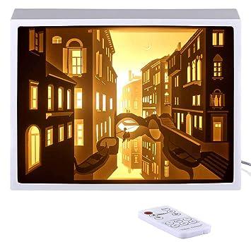 Amazon.com: decorsmart Papercut Luz Cajas – Venice visión ...