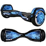 MightySkins Protective Vinyl Skin Decal for Razor Hovertrax 2.0 Hover Board Self-Balancing Smart Scooter wrap cover sticker skins Blue Mystic Flames
