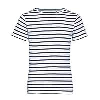 SOLS Miles - T-Shirt rayé - Enfant Unisexe