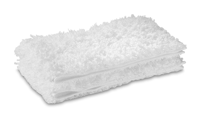 Kärcher 2.863-173.0, Juego de paños de microfibra para limpiadoras de vapor (Suelos), Blanco, Pack de 2 28631730