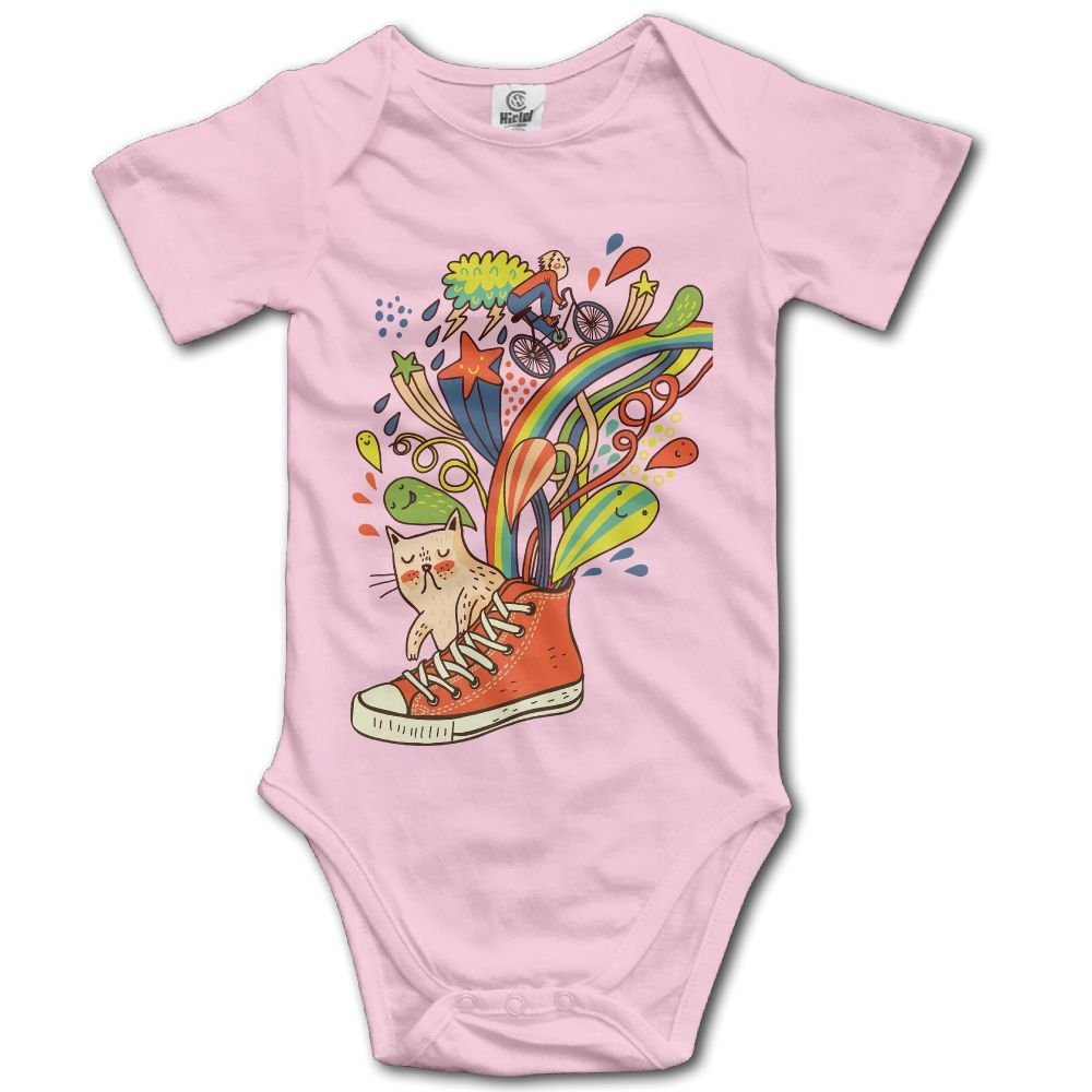 Jaylon Baby Climbing Clothes Romper Cartoon Shoes Cats Infant Playsuit Bodysuit Creeper Onesies Pink