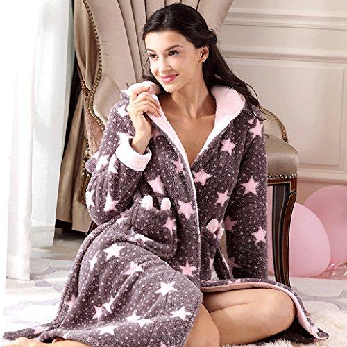 ZLR Autunno Inverno Stagione Nuova sezione Lady Sleep Robe Warm Sweet Cute Pigiama Ispessimento Home Abbigliamento Accappatoio ( dimensioni : XXL )