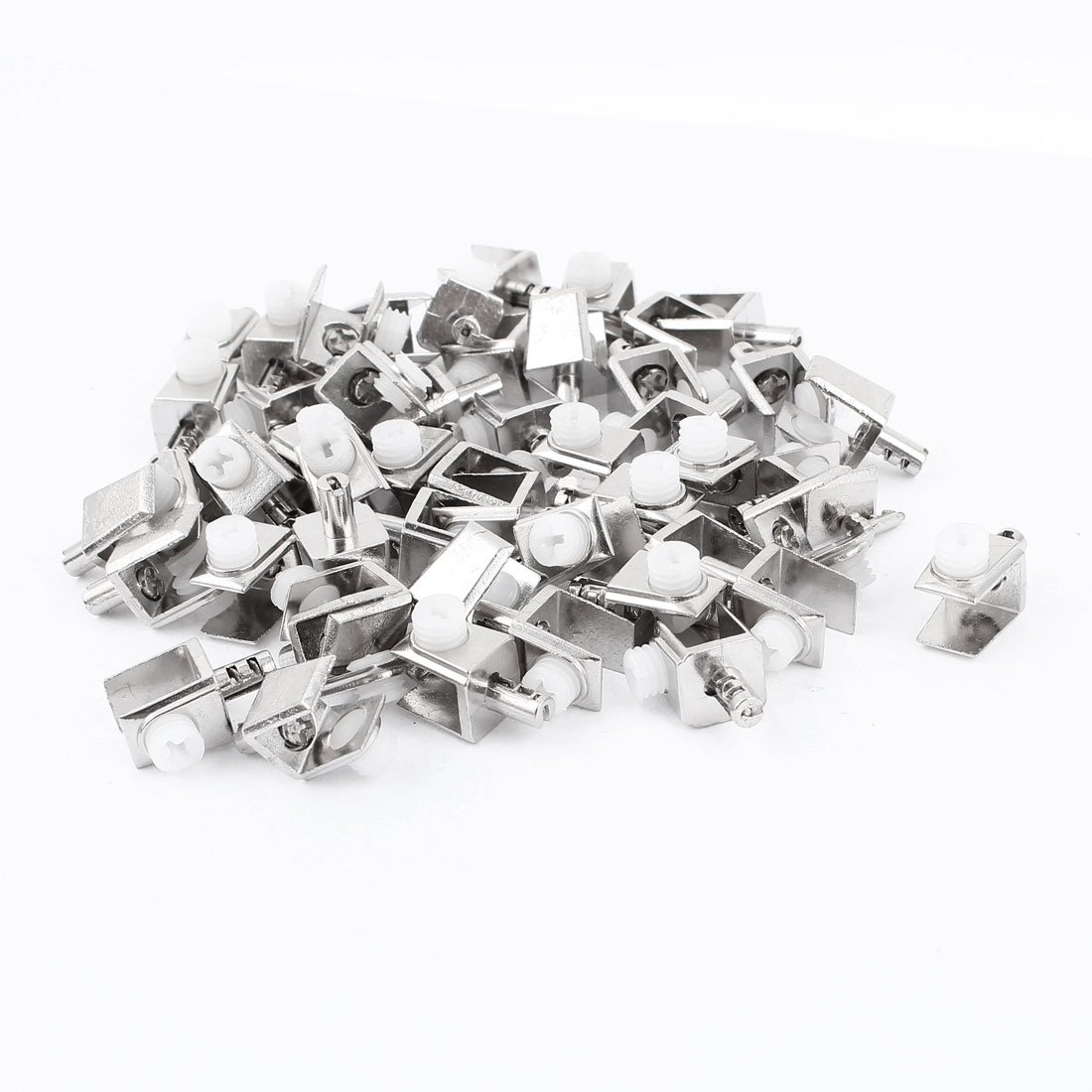 50 Pcs Wall Mounted 0.16''-0.31'' Thick Screw Adjustable Glass Clips