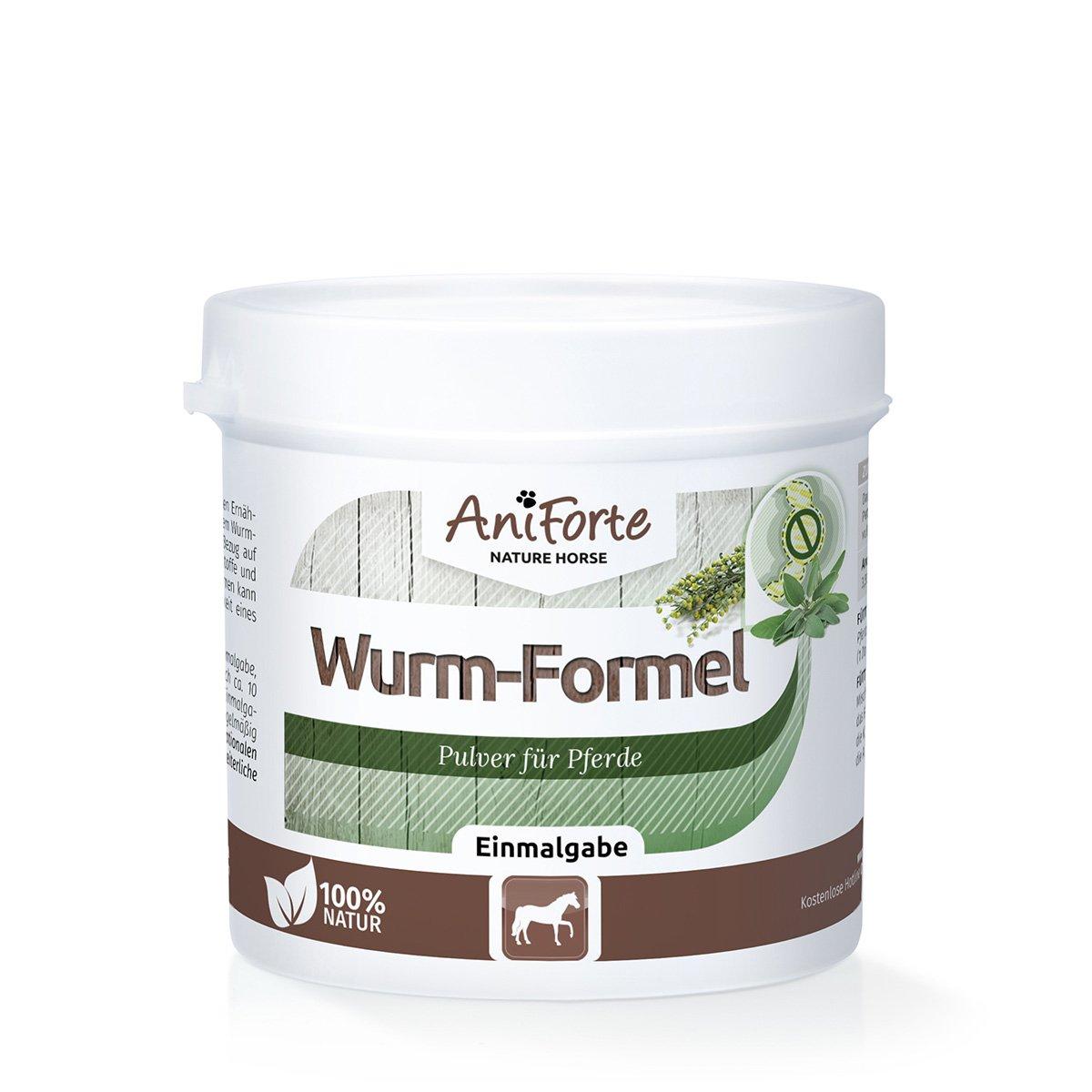 AniForte Formule de Ver Naturel 100 g pour Chevaux, Efficace, Aux actifs naturels de plantes pour Cheval Görges Naturprodukte GmbH