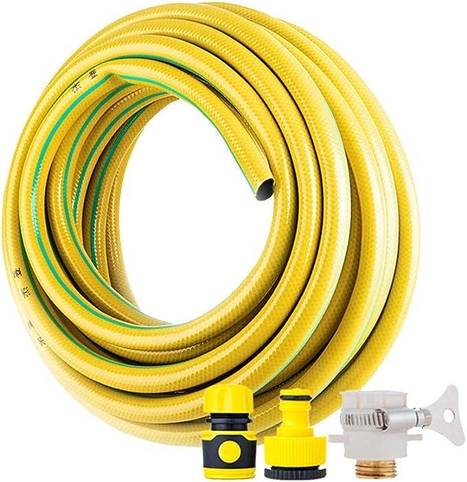 Manguera de Jardín HAIYU 3/4 Pulgadas, Manguera de PVC con Kits de Conexión Estándar, Manguera de Agua Flexible de 18 mm Ideal para Jardinería/Riego de Césped/Lavado de Autos: Amazon.es: Hogar