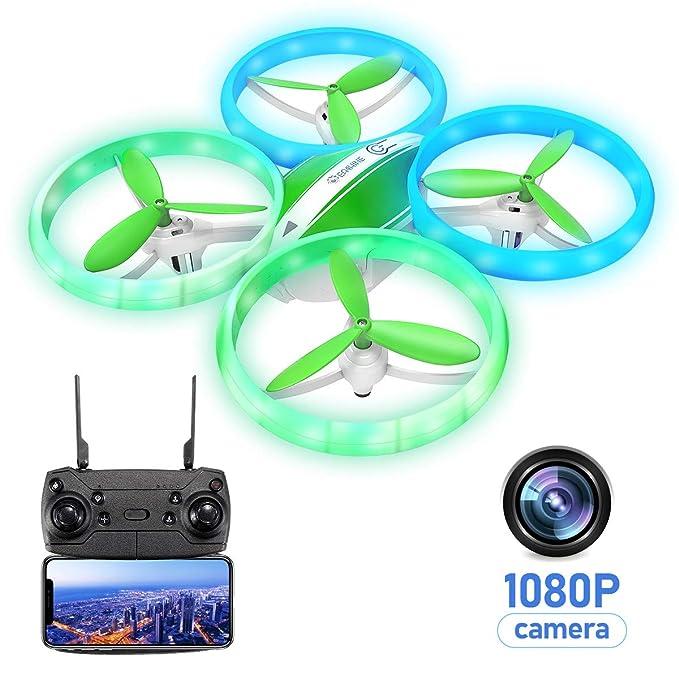 EACHINE E65HW, Drone con Camara 1080p HD para Niños Adultos, WiFi en Real FPV Trayectoría de Vuelo Batería Módula 3…