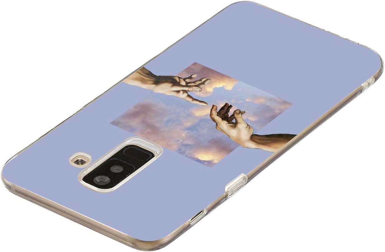 LeviDo Funda Compatible para Samsung Galaxy A6 Plus 2018//A6+ Silicona Bumper Delgado Caucho Caso TPU Case Goma Antigolpes Parachoque Transparente Cover 2018 Planeta