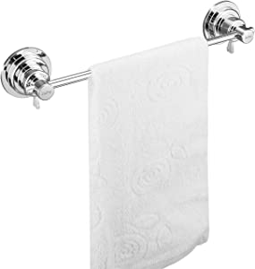 JIEPAI Suction Cup Towel Bar 16 Inch,Removable Vacuum Suction Towel Holder Suction Towel Rack
