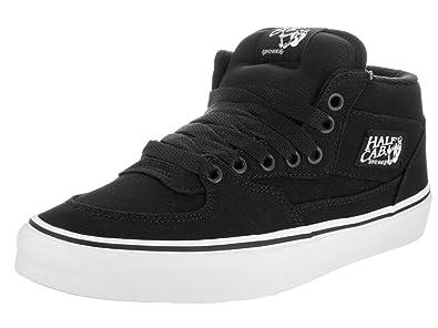 963b4d63d9 Vans Unisex Half Cab (14 oz Canvas) Black Skate Shoe 9.5 Men US   11 ...