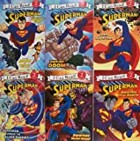 I Can Read Superman - 6 Book Set Escape From the Phantom Zone, Day of Doom, I Am Superman, Superman Versus Bizarro, Superman Versus Mongul, Supman Versus the Silver Banshee
