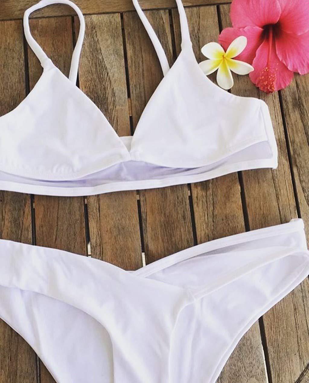 Mujer Ropa de Baño Tops de Bikini con Relleno Traje de Baño Push up Bañador de Cuello Hálter Mujer Push-up Bikini: Amazon.es: Electrónica