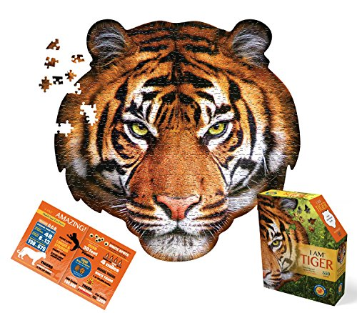Madd Capp tiger head shaped puzzle
