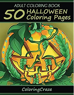 Adult Coloring Book 50 Halloween Pages Collection