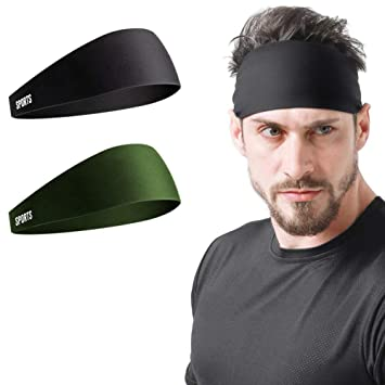 Vgogfly Sweat Headbands for Men Sweatbands for Mens Headband Running Sweat Bands Headbands Men Workout Sports Hairband for Men Thin Fitness Gym Yoga ...