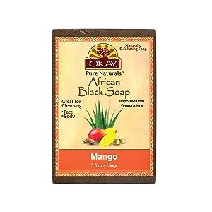 OKAY African Black Soap Mango, Mango, 5.5 Ounce