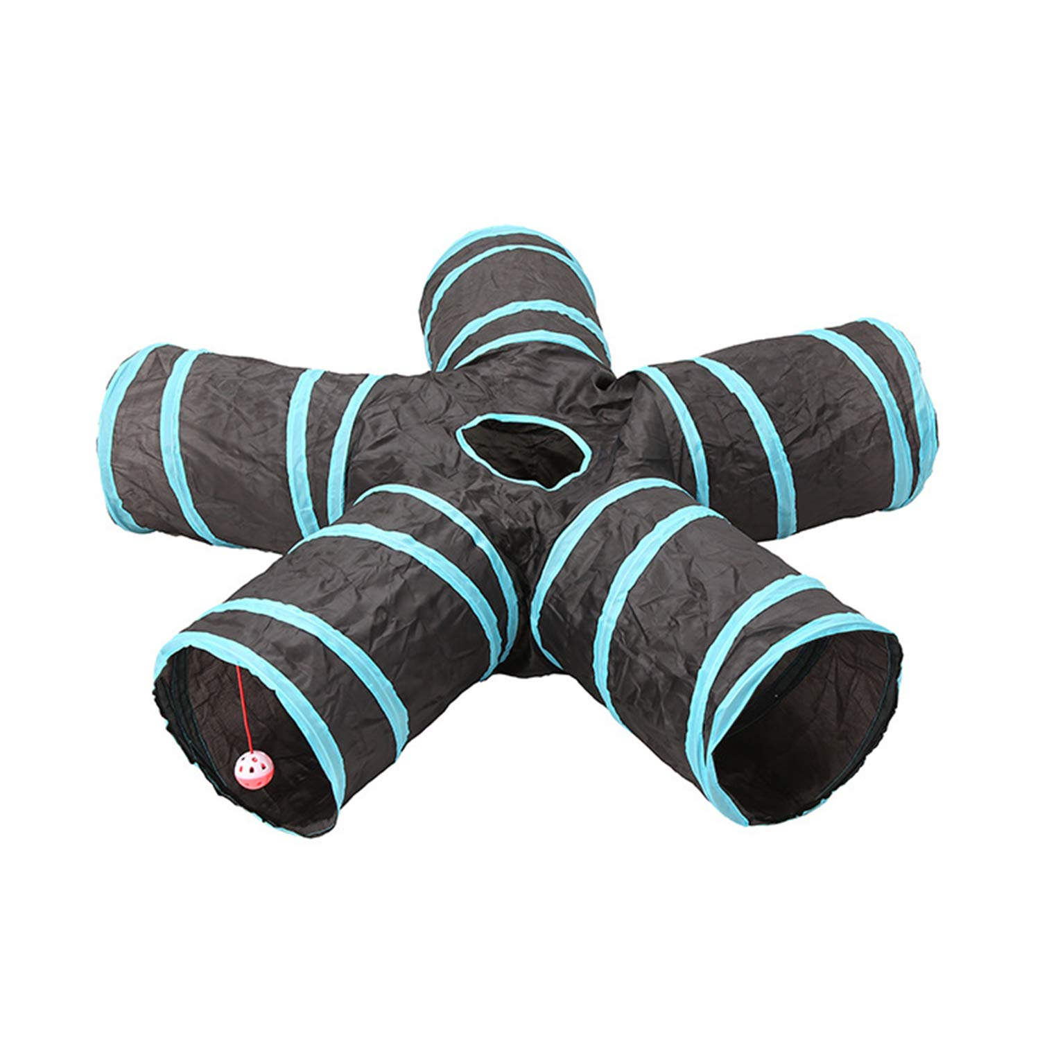 CLAIQY Cat Tunnel Toy,Cat Toy 5-Way Collapsible Pet Game Tunnel Tube for Cats, Puppies, Rabbits, Guinea Pigs by CLAIQY